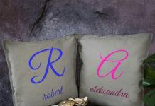 Zestaw dwóch poduszek dekoracyjnych